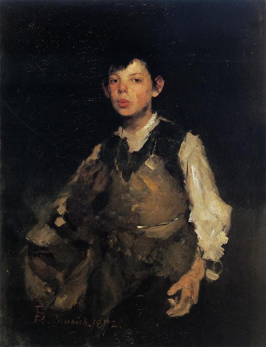 Silbando Boy, 1872 de Frank Duveneck (1848-1919, United States ...