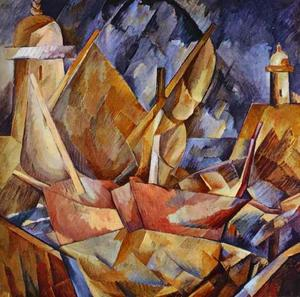 Georges Braque - Harbor in Normandy - (Famous paintings)