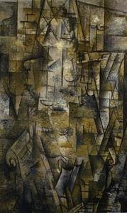 Georges Braque - Woman Reading - (Famous paintings reproduction)