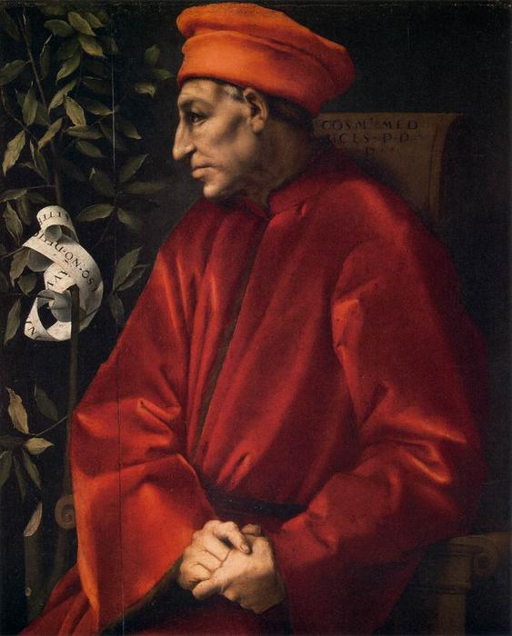Cosimo il Vecchio by Jacopo Carucci (Pontormo) (1494-1557, Italy) | Famous Paintings Reproductions | WahooArt.com