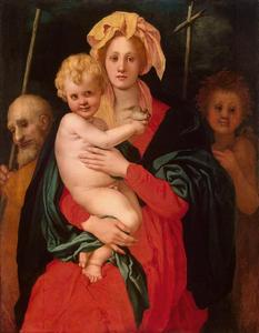 Jacopo Carucci (Pontormo) - Madonna and Child with St. Joseph and Saint John the Baptist