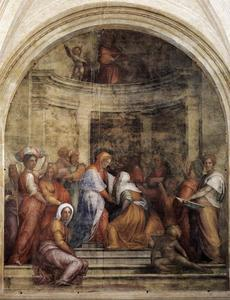 Jacopo Carucci (Pontormo) - Visitation - (paintings reproductions)