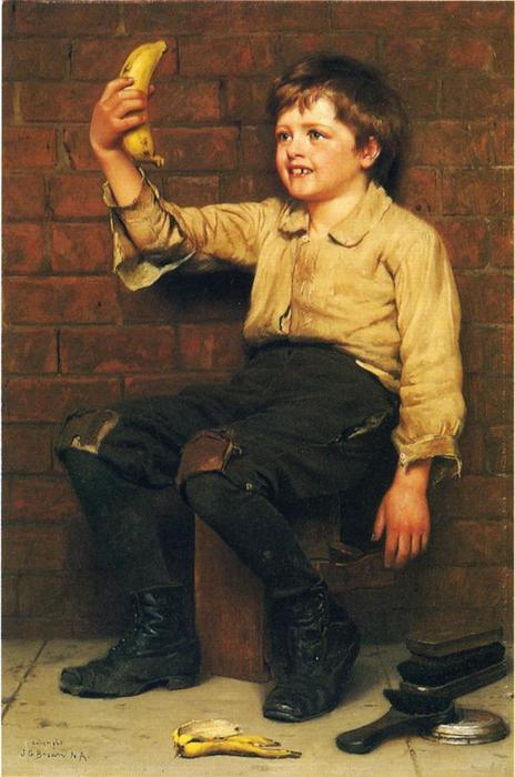Muchacho del plátano de John George Brown (1831-1913, United ...