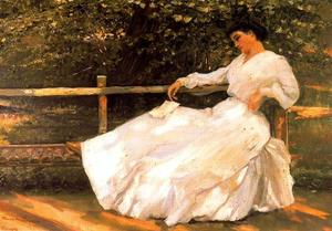 José Villegas Cordero - Women In The Garden - (Famous paintings reproduction)