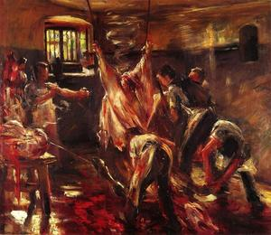 Lovis Corinth (Franz Heinrich Louis) - In the Slaughter House - (Famous paintings reproduction)