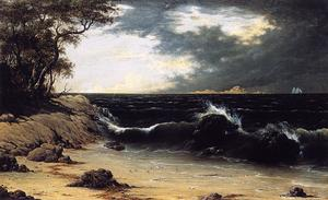 Martin Johnson Heade - Storm Clouds over the Coast
