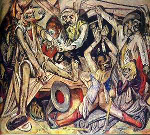 Max Beckmann - The Night - (paintings reproductions)