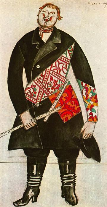 Купец , костюм балет ``Chout`` по Mikhail Fiodorovich Larionov ...
