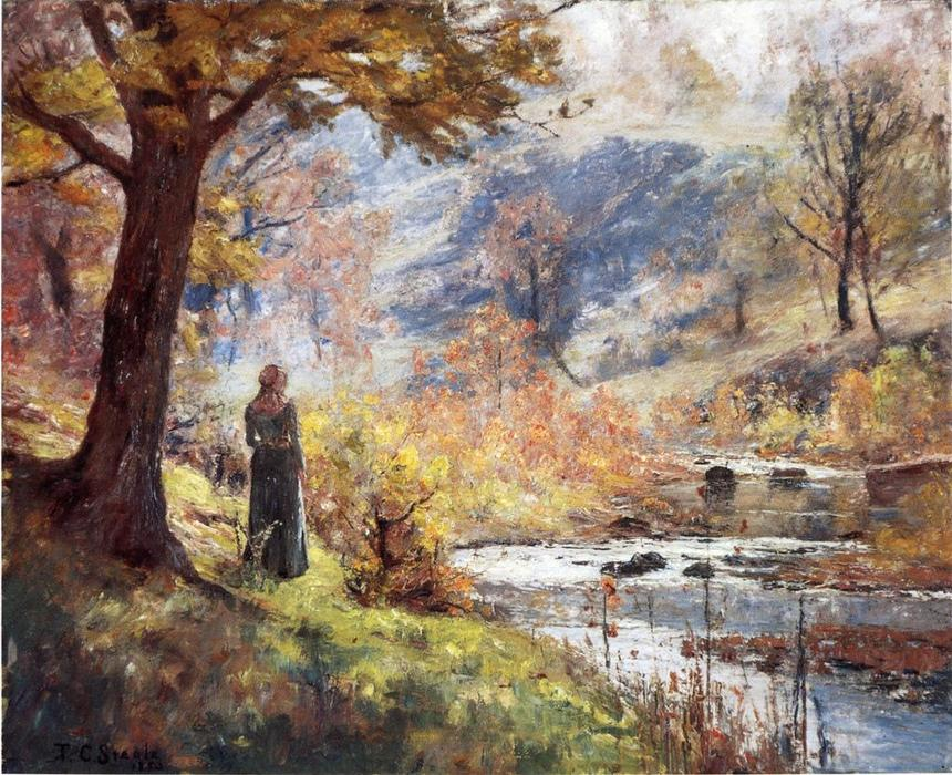 Morning by the Stream, 1893 by Theodore Clement Steele (1847-1926, United States) | Reproductions Theodore Clement Steele | WahooArt.com