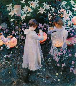 John Singer Sargent - Carnation, Lily, Lily, Rose - (Famous paintings)