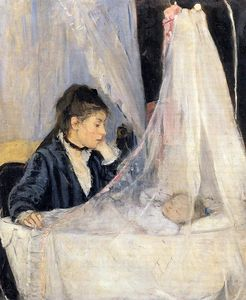 Berthe Morisot - The Cradle - (Famous paintings)