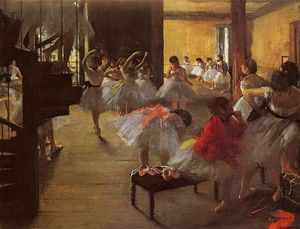 Edgar Degas - The Dance Class - (oil painting reproductions)