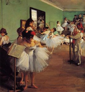 Edgar Degas - The Dance Class - (Famous paintings)