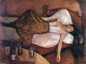 Edvard Munch - The Day After - (Famous paintings reproduction)