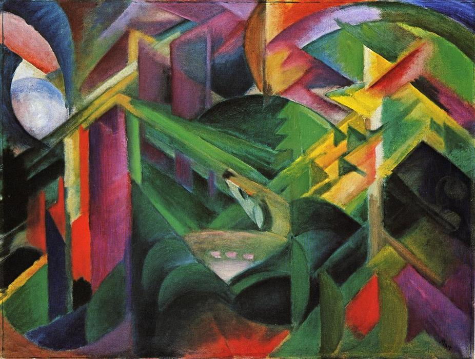 The Mandrill by Franz Marc Giclee Fine ArtPrint Reproduction on Canvas