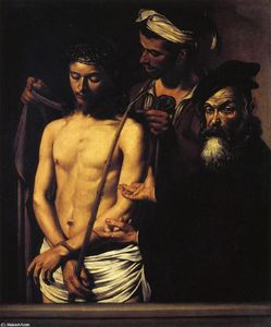 Caravaggio (Michelangelo Merisi) - Ecce Homo - (Famous paintings reproduction)