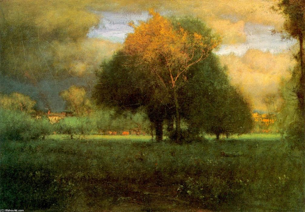 george inness early moonrise - HD 1280×890