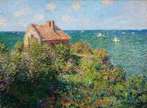 Claude Monet - Fisherman's Cottage at Varengeville - (paintings reproductions)