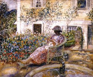 Frederick Carl Frieseke - The Fountain