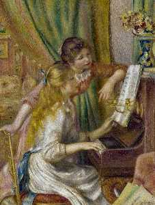 Pierre-Auguste Renoir - Girls at the Piano - (Famous paintings)