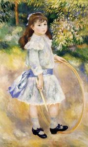 Pierre-Auguste Renoir - Girl with a Hoop - (Famous paintings reproduction)