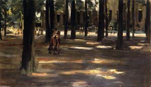 Max Liebermann - Going to School in Laren - Composition Study