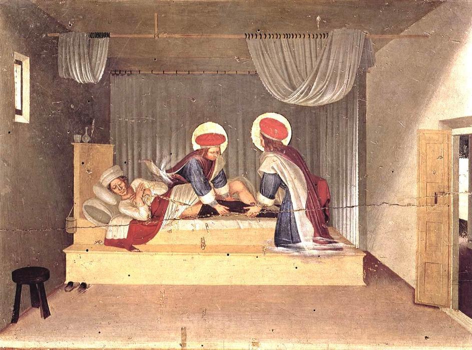 LE LIVRE D'HEURES DE LA REINE ANNE DE BRETAGNE (vers 1503) TRADUIT DU LATIN par M. L'ABBÉ DELAUNAY – Paris - 19 eme sièc Fra-Angelico-The-Healing-of-Justinian-by-Saint-Cosmas-and-Saint-Damian-San-Marco-Altarpiece-