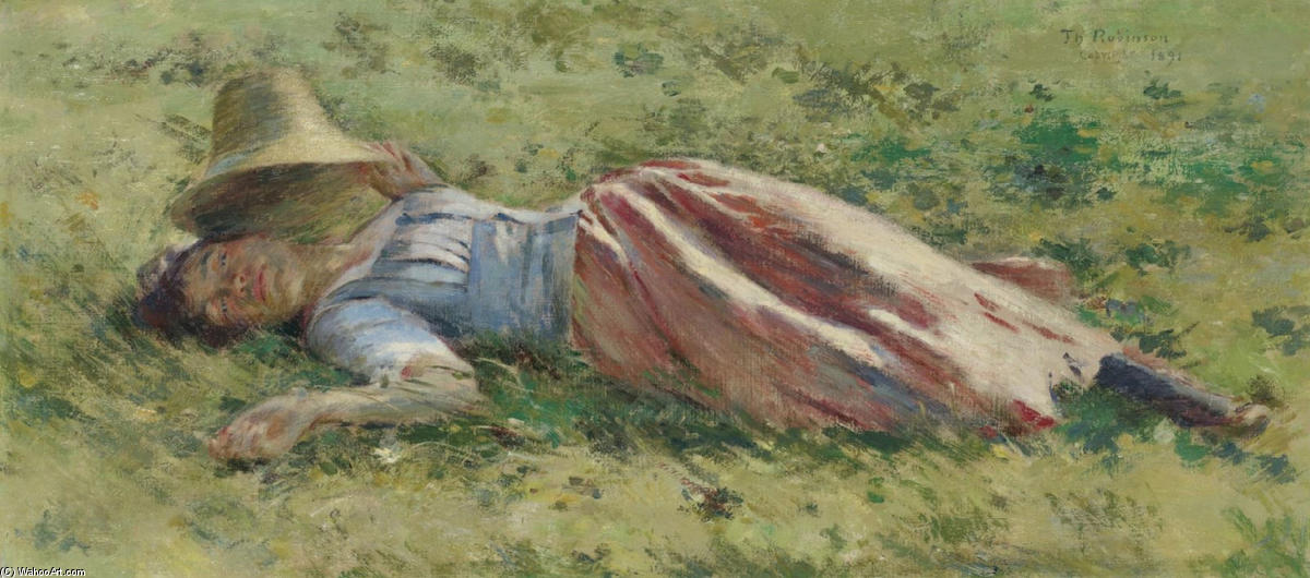In the Sun by Theodore Robinson (1852-1896, United States) | Reproductions Theodore Robinson | WahooArt.com