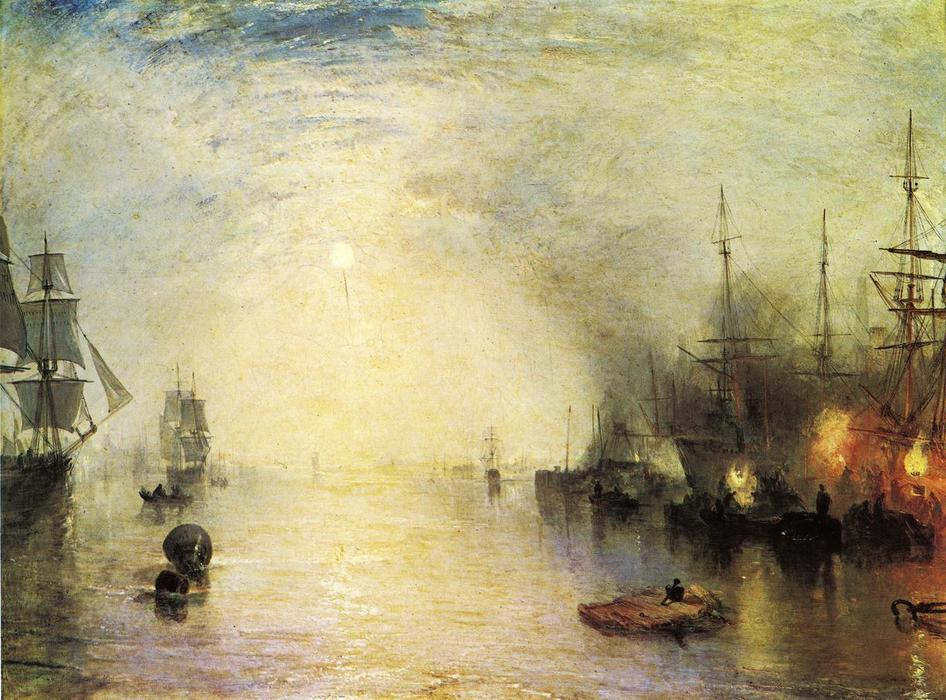 Keelmen Heaving in Coals by Night, 1835 by William Turner (1775-1851, United Kingdom) | Art Reproduction | WahooArt.com