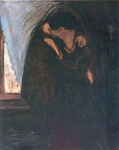 Edvard Munch - Kiss - (oil painting reproductions)