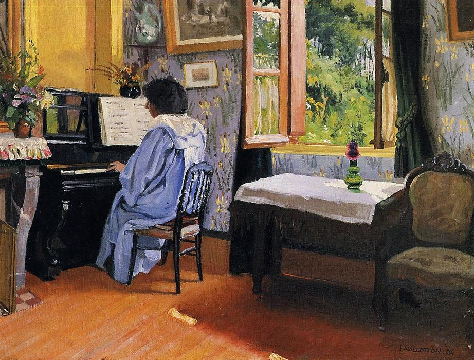 Dame am Klavier, 1904 von Felix Vallotton (1865-1925, Switzerland ...