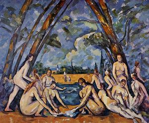 Paul Cezanne - The Large Bathers - (Famous paintings reproduction)