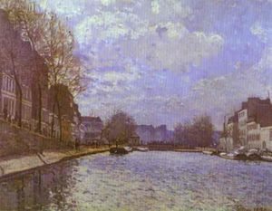 Alfred Sisley - The Saint Martin Canal in Paris - (Famous paintings)