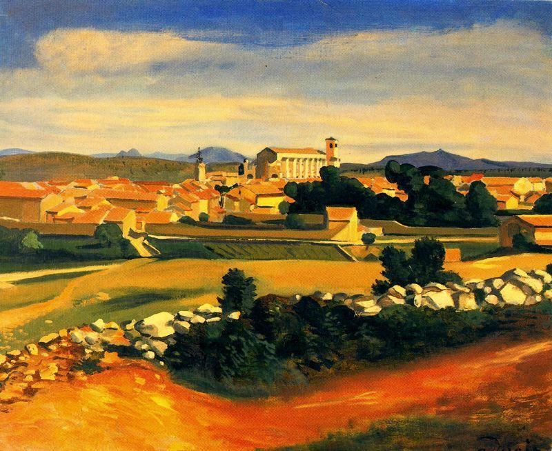 paesaggio, 1930 di André Derain (1880-1954, France) | Riproduzioni ...