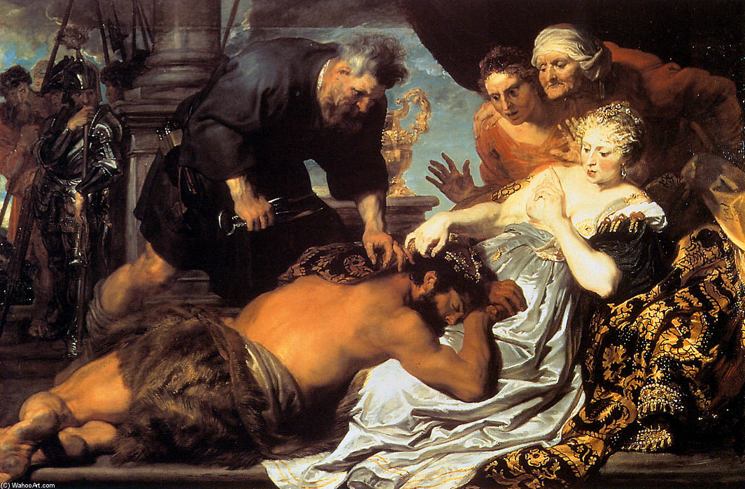 Samson and Delilah, 1620 by Anthony Van Dyck (1599-1641, Belgium) | Museum Quality Copies Anthony Van Dyck | WahooArt.com