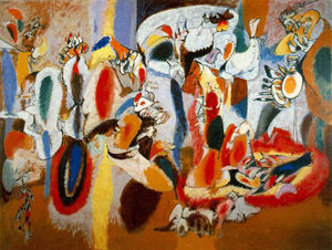 Arshile Gorky - The Liver is the Cock's Comb - (Famous paintings reproduction)
