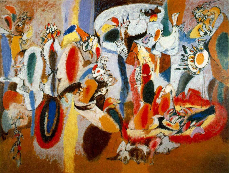 The Liver is the Cock`s Comb, 1944 by Arshile Gorky (1904-1948, Turkey) | Reproductions Arshile Gorky | WahooArt.com