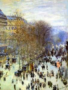 Claude Monet - Boulevard of Capucines - (paintings reproductions)