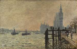 Claude Monet - The Thames below Westminster - (Famous paintings)