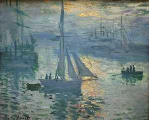 Claude Monet - Sunrise, The Sea - (Famous paintings reproduction)