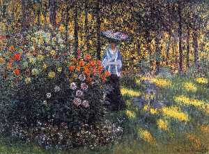 Claude Monet - Woman with a Parasol in the Garden in Argenteuil - (Buy fine Art Reproductions)