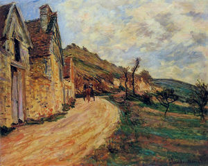 Claude Monet - Rocks at Falaise near Giverny