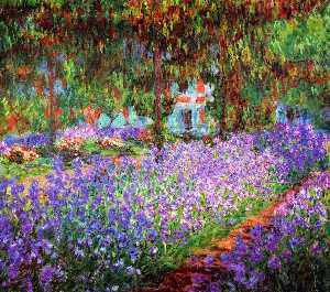 Claude Monet - Irises in Monet's Garden - (Buy fine Art Reproductions)