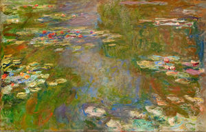 Claude Monet - Water Lilies (70) - (Famous paintings reproduction)
