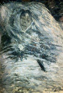 Claude Monet - Camille Monet On Her Deathbed - (paintings reproductions)