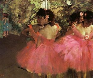 Edgar Degas - Dancers in Pink - (Buy fine Art Reproductions)