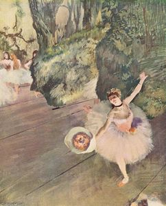 Edgar Degas - Dancer with a bouquet of flowers (The Star of the ballet) - (oil painting reproductions)