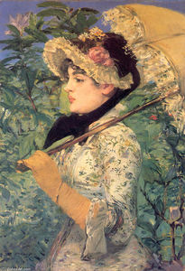Edouard Manet - Spring (Study of Jeanne Demarsy) - (paintings reproductions)