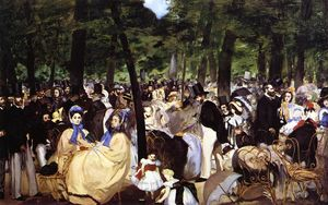 Edouard Manet - Music in the Tuileries Garden - (Famous paintings reproduction)