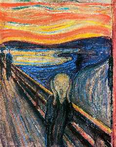 Edvard Munch - The Scream - (Famous paintings reproduction)